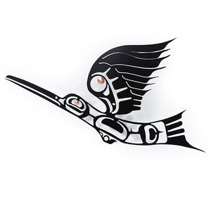 Steel Hummingbird Plaque