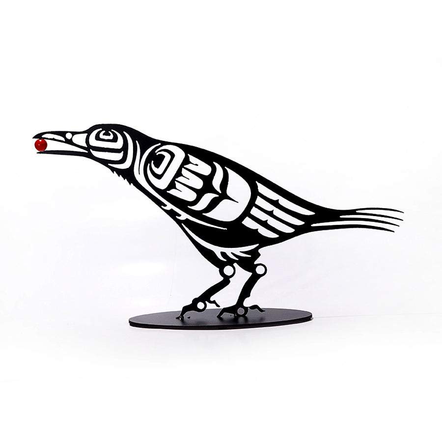 Crow with Berry by Noel Brown, Coast Salish