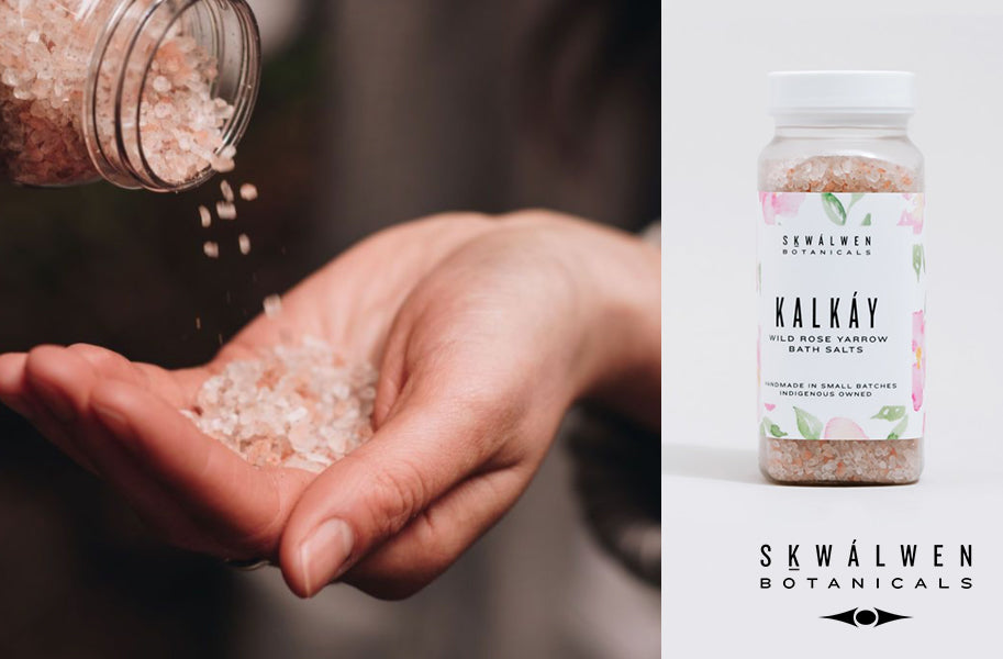 KALKÁY (Wild Rose) Yarrow Bath Salts by Sḵwálwen Botanicals