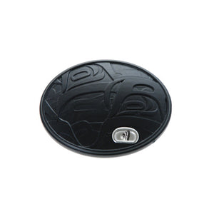 Sea to Sky Recycled Glass Belt Buckle by Corrine Hunt, Kwakwaka'wakw/Tlingit