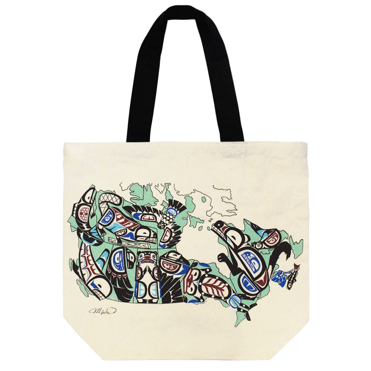 Canvas Tote Bag - Indigenous Canada