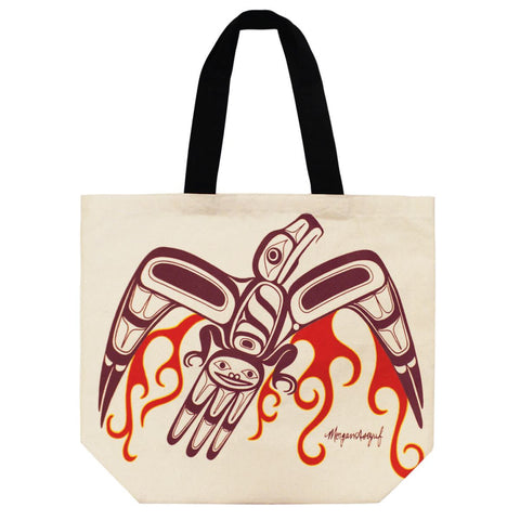 Cotton Canvas Tote Bag by Morgan Asoyuf, Tsimshian