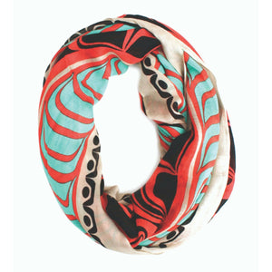 Bamboo Circle Scarf by Ryan Cranmer, Namgis