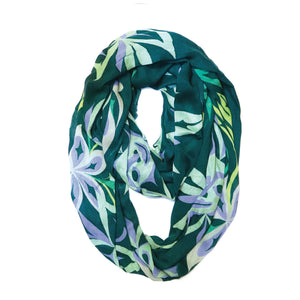 Bamboo Circle Scarf by Simone Diamond, Coast Salish