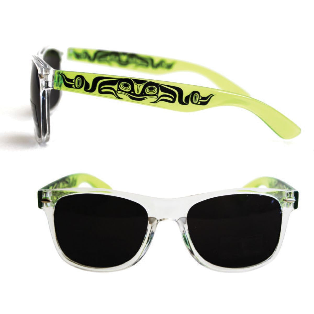 Clear Frame UV 400 Sunglasses by Ernest Swanson, Haida