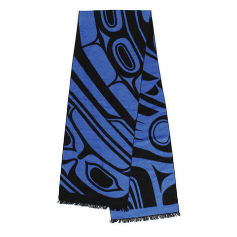 Brushed Silk Scarf by Donnie Edenshaw, Haida