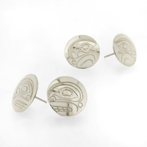 Sterling Silver Stud Earrings by Don Lancaster, Kwakwaka'wakw