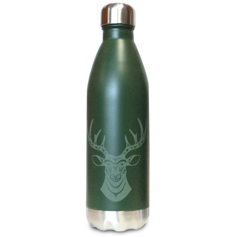 Large Insulated Stainless Steel Bottle by Simone Diamond, Coast Salish