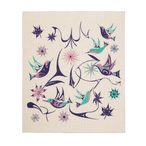 Floral Hummingbird - Eco Cloth