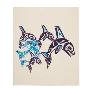 Orca Family - Eco Cloth