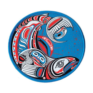 Large Embroidered Patch by Paul Windsor, Haisla/Heiltsuk