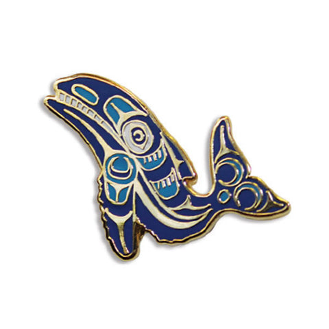 Enamel Pin by Ryan Cranmer, Namgis