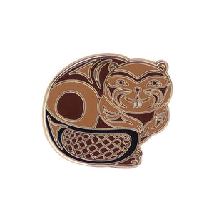Enamel Pin by Simone Diamond, Coast Salish