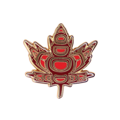 Enamel Pin by Paul Windsor, Haisla/Heiltsuk