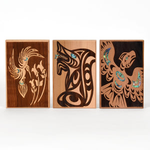 Small Cedar Panels with Abalone by Spirit Works