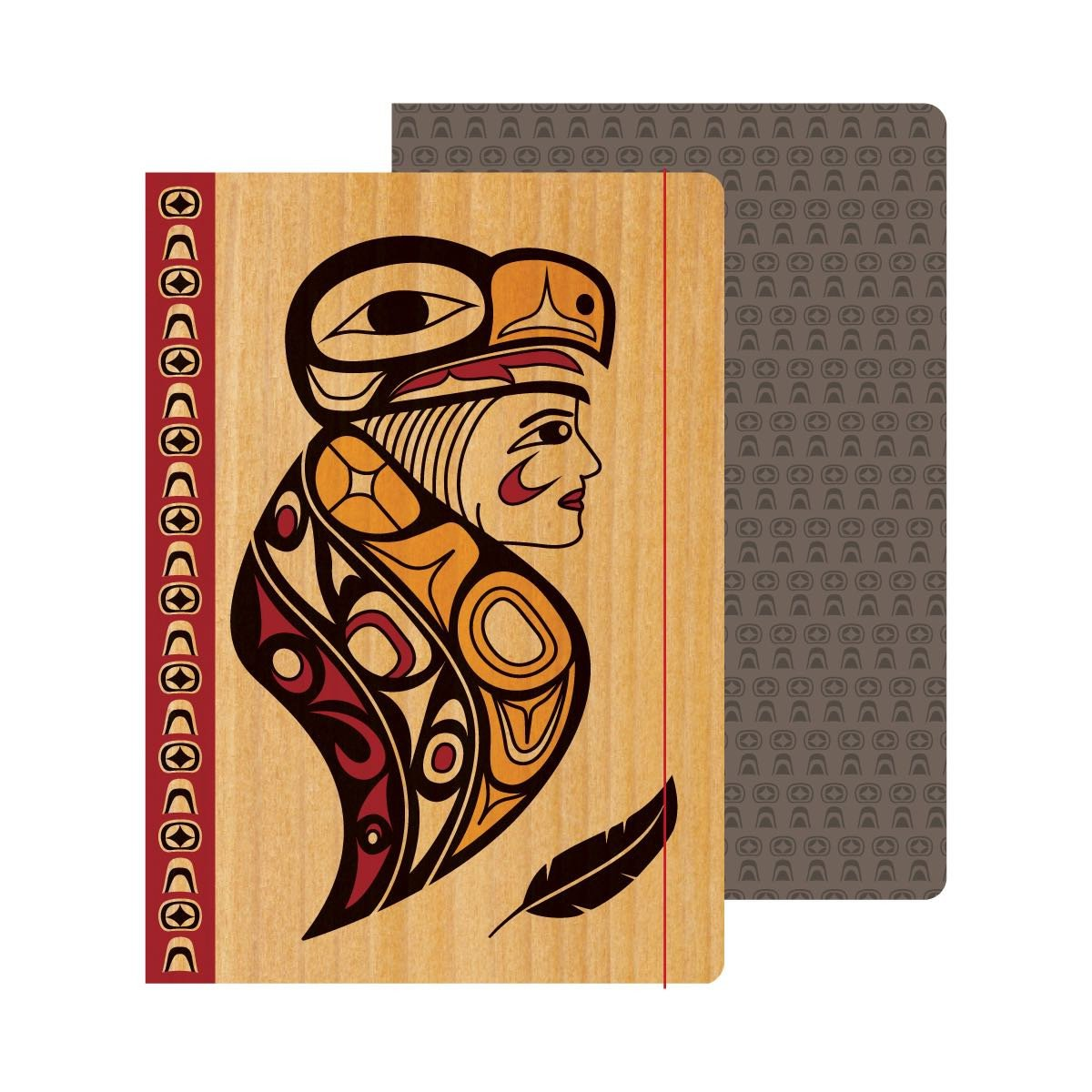 Hardcover Journal by Melaney Gleeson-Lyall, Coast Salish/Musqueam