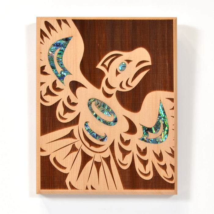 Large Cedar Panel with Abalone by Spirit Works