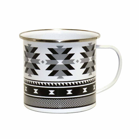 Enamel Mug by Leila Stogan, Coast Salish/Musqueam