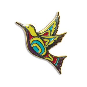 Enamel Pin by Nicole La Rock, Coast Salish