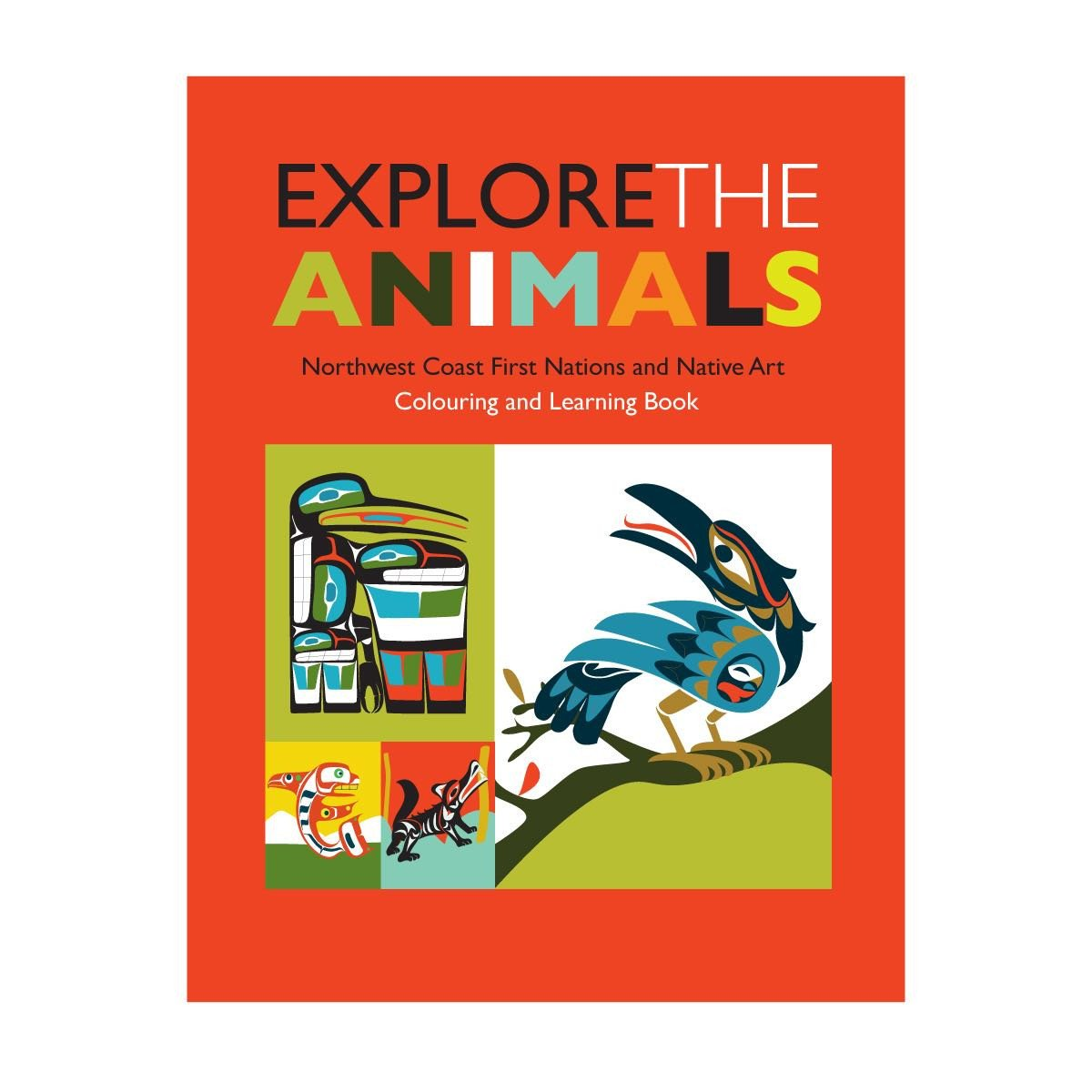 Explore the Animals - Children's Colouring Book