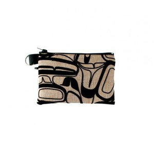 Eagle Abstract - Flocked Coin Purse