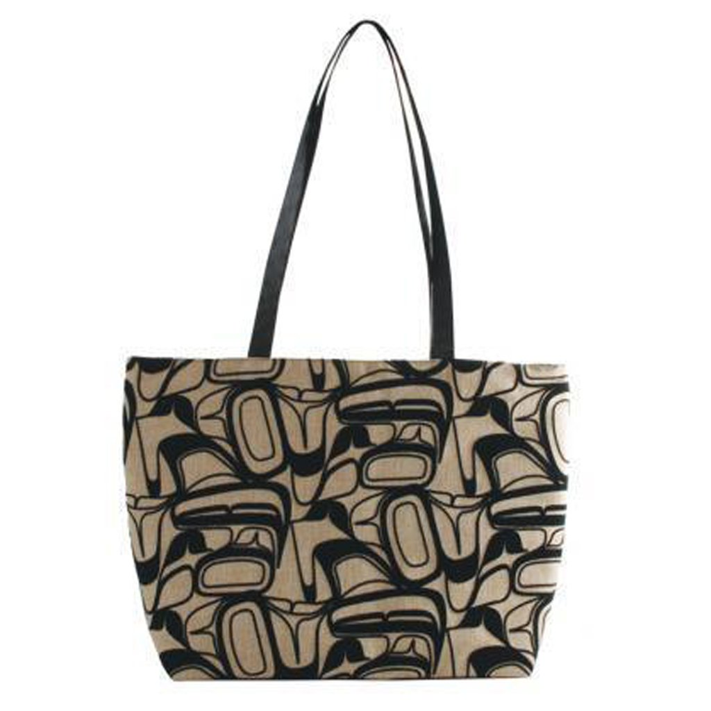 Eagle Abstract - Flocked Zip Tote