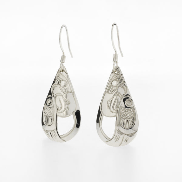 Teardrop Earrings by Harold Alfred, Kwakwaka'wakw