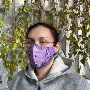 Cotton Face Mask by Nicole La Rock, Coast Salish