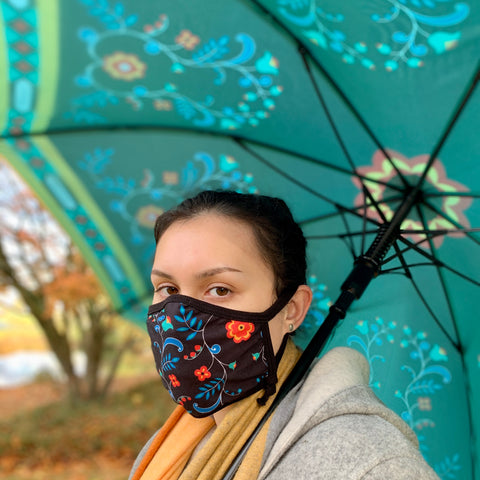 Double Layered Umbrella by Sharifah Marsden, Anishinaabe