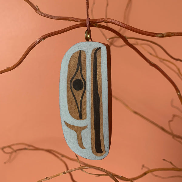 Red Cedar and Acrylic Pendants by Ben Houstie, Bella Bella