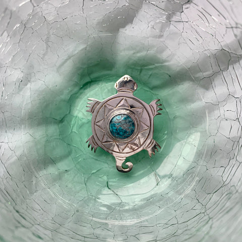 Sterling Silver Pendant with Stone by Justin Rivard, Cree
