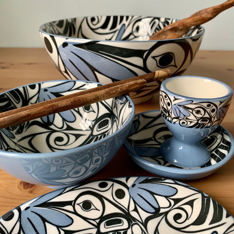 Fine Porcelain Dining Collection by Bill Helin, Tsimshian