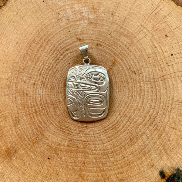Sterling Silver Pendants by Carrie Matilpi, Kwakwaka'wakw/Carrier/Cree