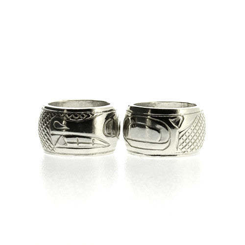 Bear - Sterling Silver Totem Bead by Justin Rivard, Cree