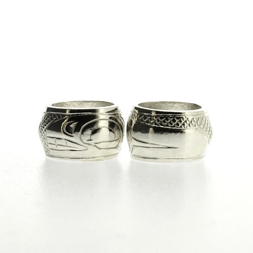 Orca - Sterling Silver Totem Bead by Justin Rivard, Cree
