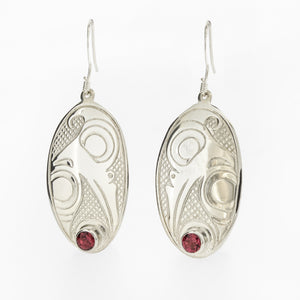 Sterling Silver and Stone Jewellery Set by Justin Rivard, Cree