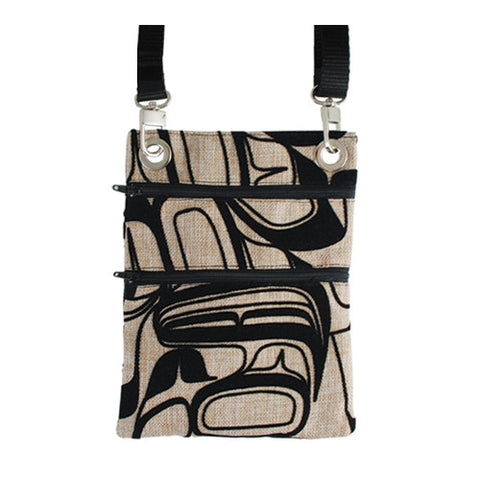 Flocked Passport Pouch by Kelly Robinson, Nuxalk/Nuu-chah-nulth