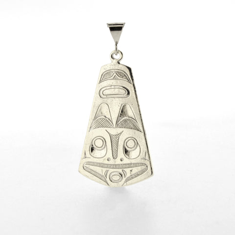 Double-sided Sterling Silver Pendant by Kelvin Thompson, Ojibwe/Haisla