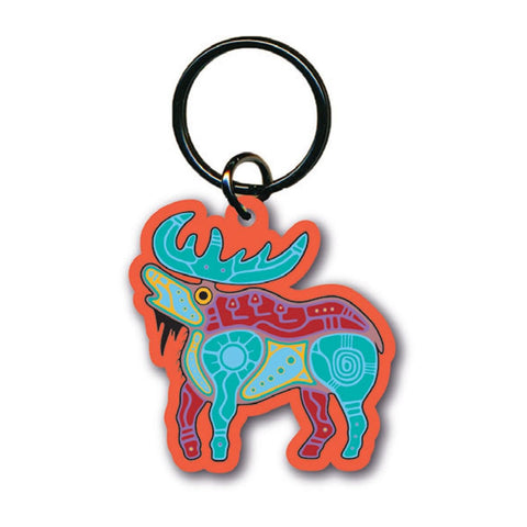 Acrylic Keychain by Jason Adair, Ojibway