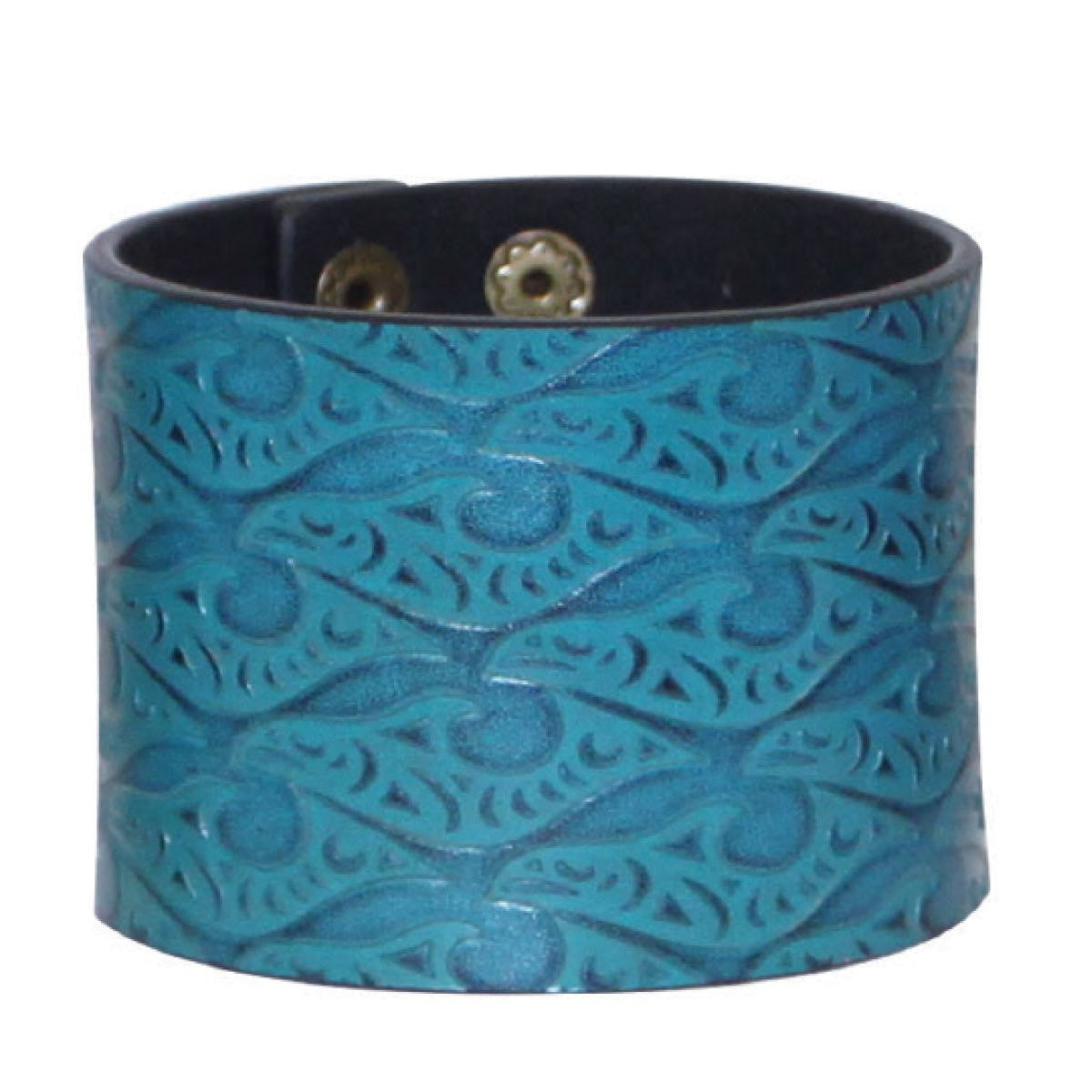 Leather Cuff by Dylan Thomas, Coast Salish