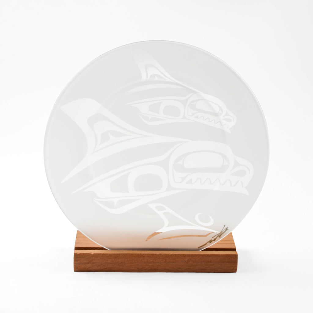 Glass Killerwhale Plate