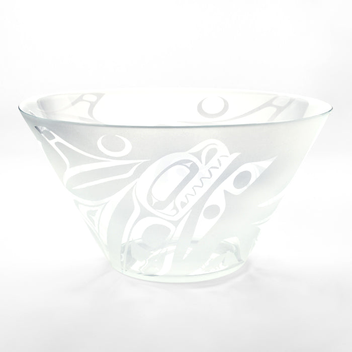 Glass Orca Salad Bowl