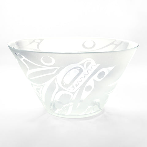 Glass Orca Salad Bowl by Michael Forbes, Haida