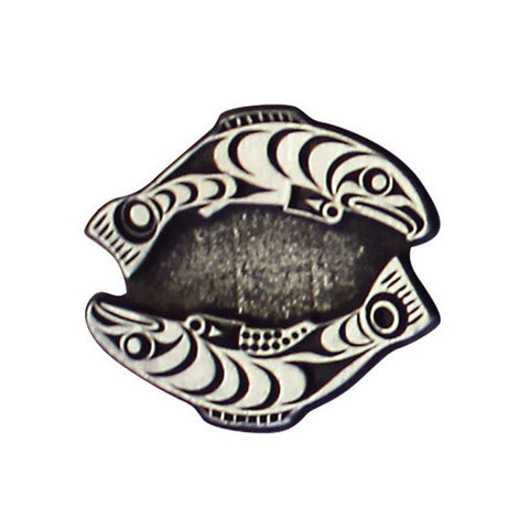 Pewter Magnet by Francis Horne Sr., Coast Salish