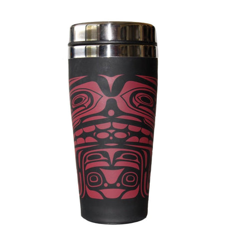 Matte Stainless Steel Travel Mug by Donnie Edenshaw, Haida