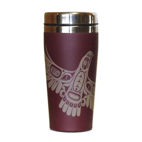 Matte Stainless Steel Travel Mug by Ernest Swanson, Haida