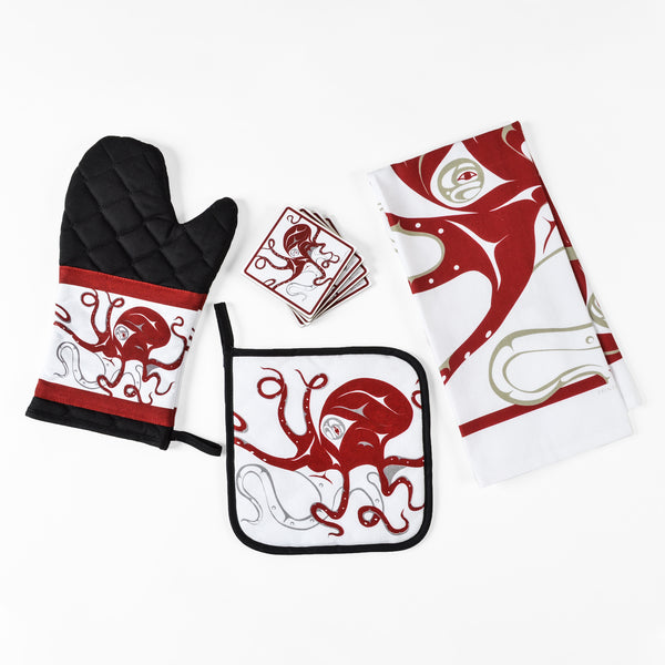 Cotton Oven Mitt by Andrew Williams, Haida