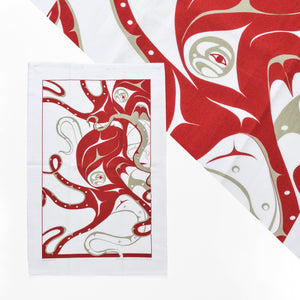 Cotton Tea Towel by Andrew Williams, Haida