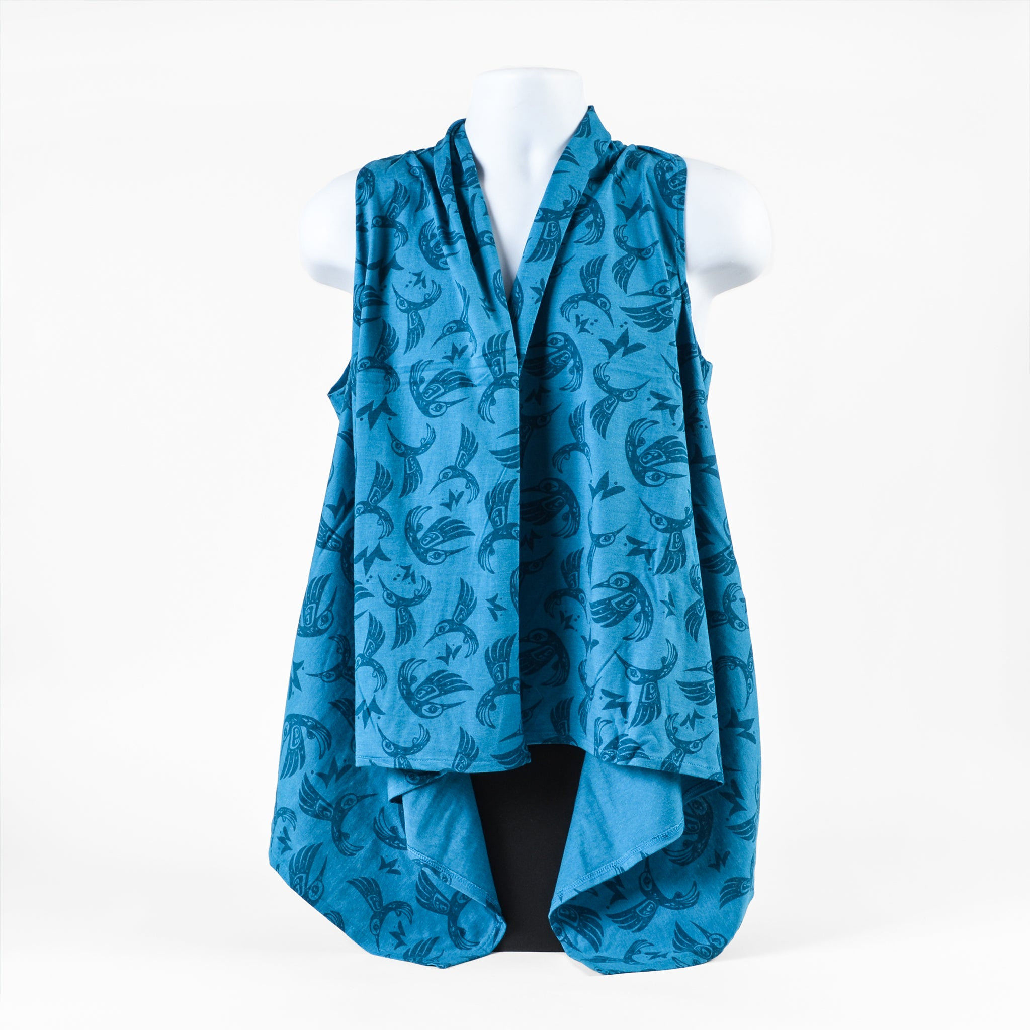 All Over Print Vest by Bill Helin, Tsimshian