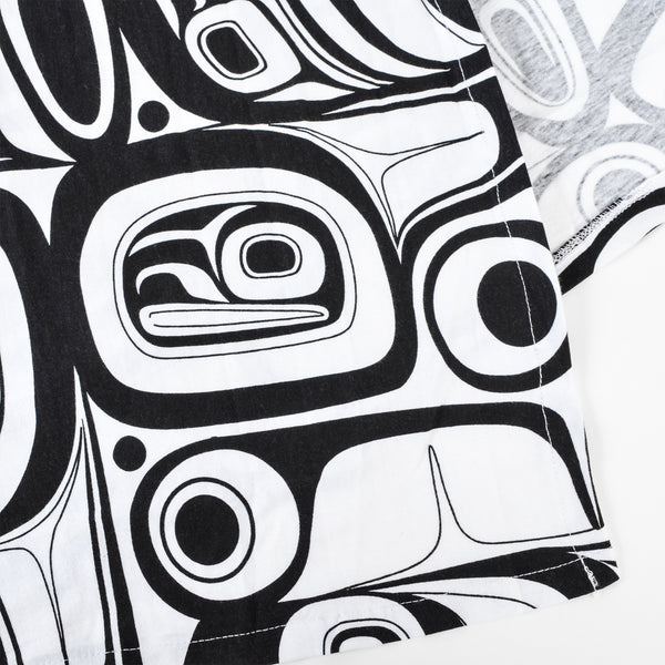 All Over Print Vest by Kelly Robinson, Nuxalk/Nuu-chah-nulth
